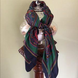 Pierre Cardin Vintage Paisley Silk Scarf